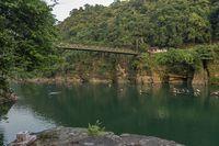 Famous Dawki Bridge over Umngot River, Meghalaya, India