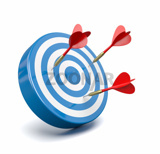 Red Darts Hitting a Blue Target, Failure Concept