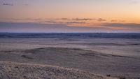 dusk over prairie and Front Range