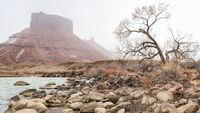 Colorado River in Utah above Moab in winter