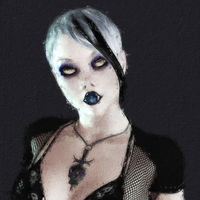Artistic 3D illustration of a goth female
