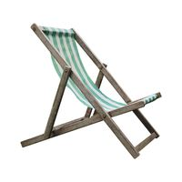 deck chair isolated over white