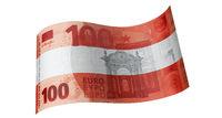 100 Euro Schein in Rot Weiß Rot