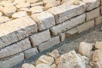 Texture of old facade brick wall