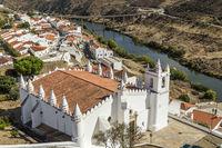Mertola with main church (the Matriz), Alentejo, Portugal