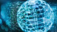 Programmiercode und Globus