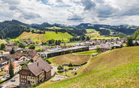 The small town of Trubschachen in Emmental, Canton Berne.