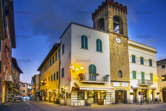 In the old town of Castiglione del Lago Umbria Italy
