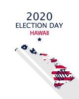 2020 Hawaii vote card