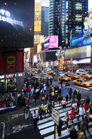 Times Square, featured with Broadway Theaters and huge number of LED signs, is a symbol of New York City