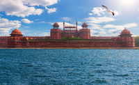 Famous Red Fort In New Delhi, India, photo fiction