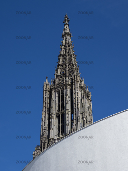 Partial View of Ulm Minster and City Hall - Ulm