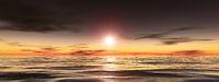 dark sunset wide background
