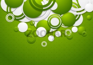 Abstract green circles vector background