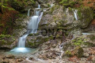 Kesselbach Wasserfall am Kesselberg bei Kochel am See