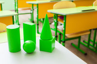 Geometric shapes for learning at primary school