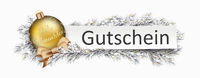 Gutschein Banner Golden Bauble Twigs Christmas