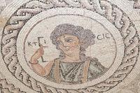 Bodenmosaik der Ktisis, Eustolios-Villa, Kourion, Zypern