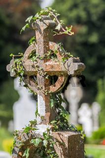 Old Irish cemetery cross
