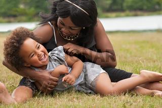 Mother loves her little girl