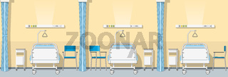 Illustration of a sickroom, seamless
