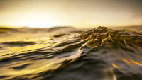 golden sunset ocean wave background