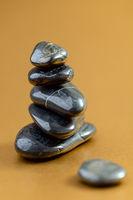 Black basalt stones for massage.