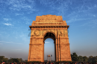 india gate during sunset