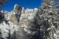 Gipfel Sassongher im Winter