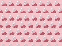 Valentine's pattern from vertical hearts with hard shadows.