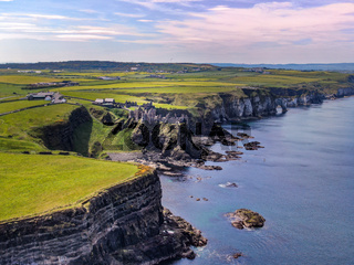 Dunluce Castle in Northern Ireland - a famous movie location