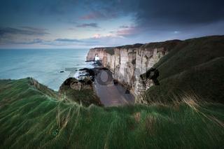 high cliffs on Atlantic ocean coast