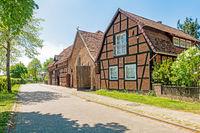 Historische Scheunen in Ahlden, Landkreis Heidekreis, Niedersachsen, Deutschland