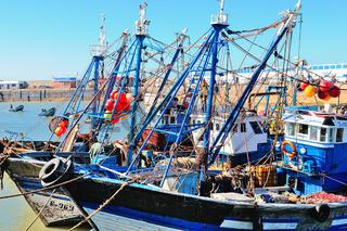Hochseefischerboote Essaouira Marokko