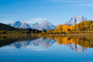 Grand Tetons rippled reflections
