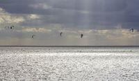 dramatic illuminated coastal scenery in Eastern Frisia