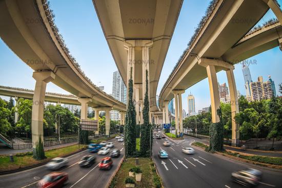 elevated traffic highway