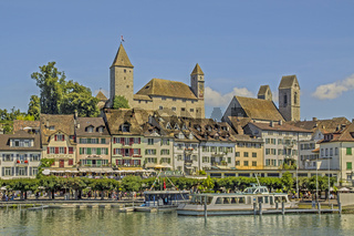 Rapperswil mit Burg, St. Johannes und Altstadt, Kanton St. Gallen