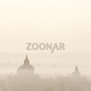 Buddhist Temples at Bagan Kingdom, Myanmar