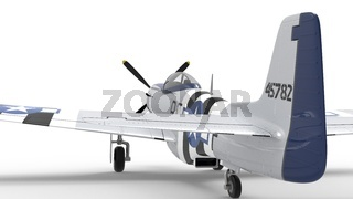 3d rendering of a world war two airplane isolated in white studio background.