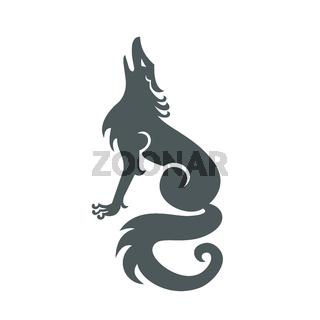 Wolf Howling Tattoo Art