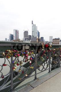 Liebesschlösser am Eisernen Steg, Frankfurt