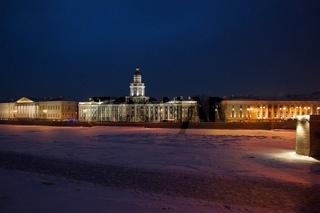 Winter evening and Kunstkamera