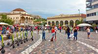 Monastiraki Square in the old town of Athens