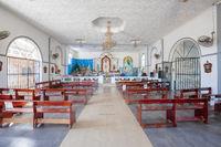 Panama Horconcitos village church interior view