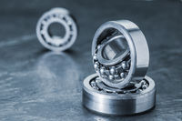 Three spherical roller bearings on slate