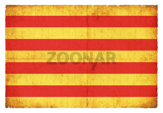 Grunge flag Pyrenees-Orientales (France)