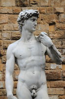 Statue of David carved by Michelangelo in Florence
