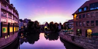 Ansicht von Nürnberg bei Sonnenuntergang