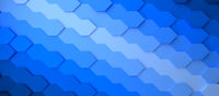 Abstract gradient blue honeycomb background